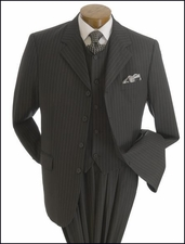 Classic Pinstriped 3 Piece Men's Suit On Sale (P1061)