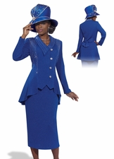 Classy Lady in Royal Blue by Donna Vinci Knits 2987