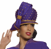 Ladies Special Occasion Designer Violet Church Hat by Donna Vinci H2110