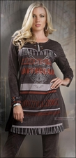 Contemporary Print 2 Piece Tunic and Legging Set from LTQ 17012