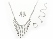 Czech Crystal Necklace, Earrings, Bracelet, and Ring Set. Only One Made Of Each!