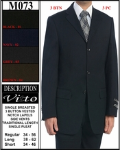 Designer Men's Business Suit (M073)