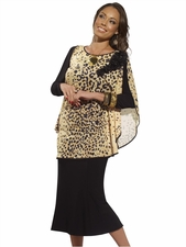 Donna by Donna Vinci Animal Print and Black Womens Special Occasion Set 14166