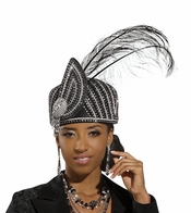 Donna Vinci Classy Ladies Black Church Hat H1487