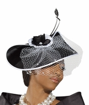 Donna Vinci Classy Womens Church Hat Royal Color H2166