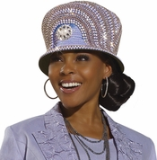 Donna Vinci Elaborate Ladies Lavender Church Hat H1496