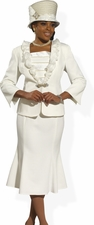 Women's  Elegant All Year Round Suit in Ivory  11286