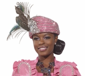 Donna Vinci Exclusive Rhinestone Church Hat H1475