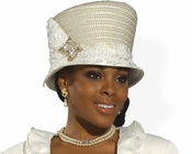 Donna Vinci Fashionist Church Hat in Ivory Color H2168