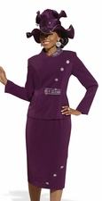 Donna Vinci Glamour First Lady Church Suit 11223