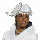 Donna Vinci Glamour Jeweled Trim Church Hat H1498