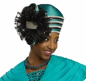 Donna Vinci High Fashion Exclusive Dynasty Green Hat H2137