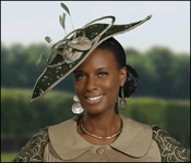 Donna Vinci High Fashion Ladies Fascinator Olive Hat H1428