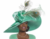 Donna Vinci High Fashion Mint Color Church Hat H1477