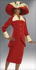 Donna Vinci High Fashion Tango and Tan Ladies Holiday Event Suit 11221