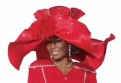 Donna Vinci High Fashion Womens Red Church Hat H1472