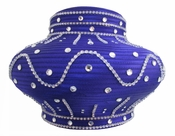 Donna Vinci Purple Dome Hat with Sparkling Rhinestones H10013
