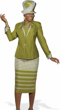 Women's Donna Vinci Retro Graphic 2 Piece Fashion Suit 11280