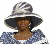 Donna Vinci Rhinestone Fashionista Church Hat H2172