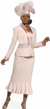 Women's Donna Vinci Soft Blush Pink Major Tend Suit 11285