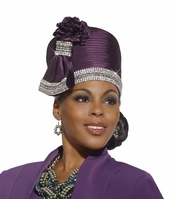 Elegant Top Selling Ladies Church Hat in Majesty Color by Donna Vinci H2139