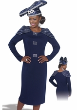 Elegant Women in Navy by Donna Vinci Knits 2969