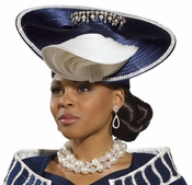 Elegant Women's Pearl and Rhinestones Hat H1494