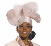 Exclusive Womens High Fashion Church Hat in Pink H1478