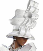 Exotic Lovely Womens First Sunday Church Hat Designed by Donna Vinci H1416