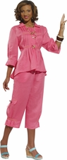Fashionable in Pink Linen Set from Donna by Donna Vinci 14190