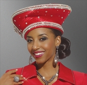Festive and Classy Womans Special Occasion Red Hat by Donna Vinci H1456