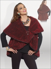 Festive and Gorgeous Ladies Novelty Eyelash Knit Cape by Love The Queen 17117
