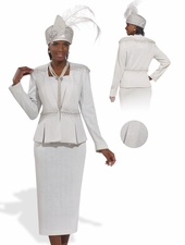 First Lady Modesty Church Suit by Donna Vinci Knits  2978