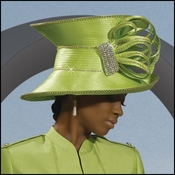 First Lady Special Occasion Mother Of The Bride Lime Hat H2077