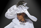 Head Turning Special Occasion Hat by Donna Vinci in Pure White H1454