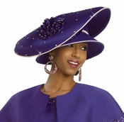 High Fashion Ladies Church and Special Occasion Hat by Donna Vinci H2140
