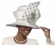 High Fashion Designer Ladies Silver Color Hat by Donna Vinci H2156