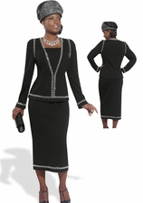 High Fashion Simply Black by Donna Vinci Knit 2984