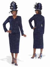High Fashion Special Occasion Church Suit by Donna Vinci 2986