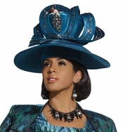 High Fashion Special Occasion Ladies Peacock Church Hat by Donna Vinci H2118
