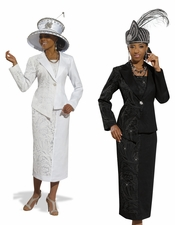 High Fashion Womens Church Suit by Donna Vinci 11295