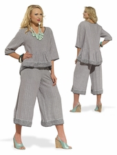 High Quality Comfortable Linen Outfit by Donna Vinci  14193