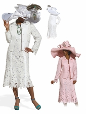 High Quality Donna Vinci Elaborate Linen Sunday Suit 11294