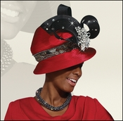 Ladies Church and Special Occasion Red Hat by Donna Vinci H1408