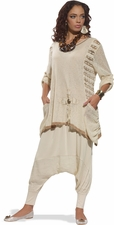 Ladies Comfortable Novelty 3 Piece Tunic Set 17129