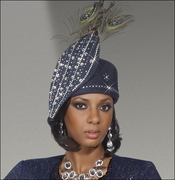 Ladies Designer Mother of The Groom Church Hat with Peacock Feathers H1453