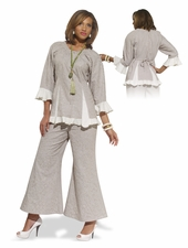 Ladies Easy Breezy Embroidery Pant Suit 14170