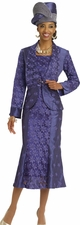 Ladies High Fashion Special Occasion Dress in Blue Iris by Donna Vinci 5438