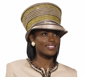 Ladies High Fashion Womens Tan Hat H2078