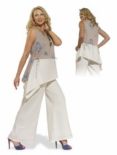 Ladies Lovely Free Feeling Linen Outfit by Donna 14172